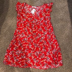 french floral babydoll dress